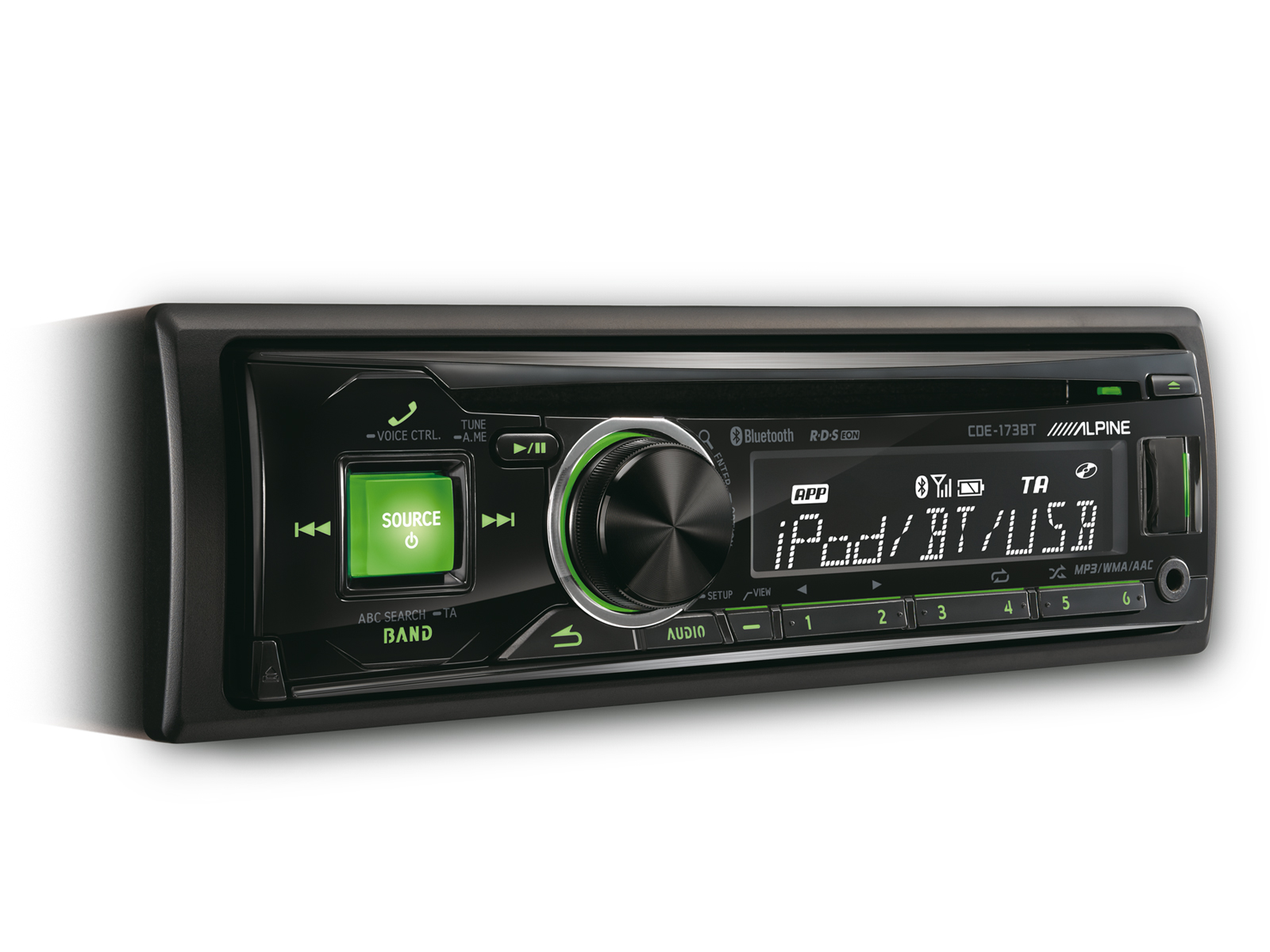 Autoradio sintolettore alpine italia cde 173bt cd fm usb aux mp3 wma