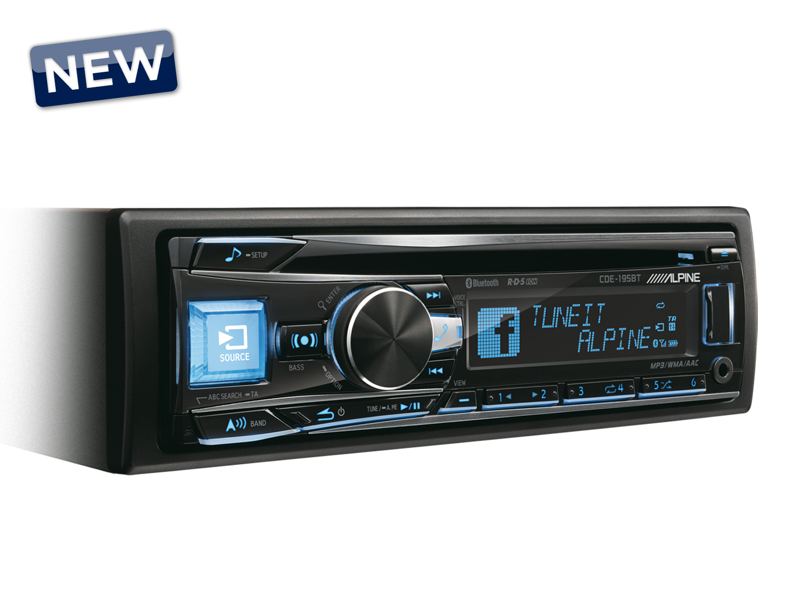 nuovo autoradio alpine cde 195bt bluetooth multicolore bluetooth ebay. Black Bedroom Furniture Sets. Home Design Ideas