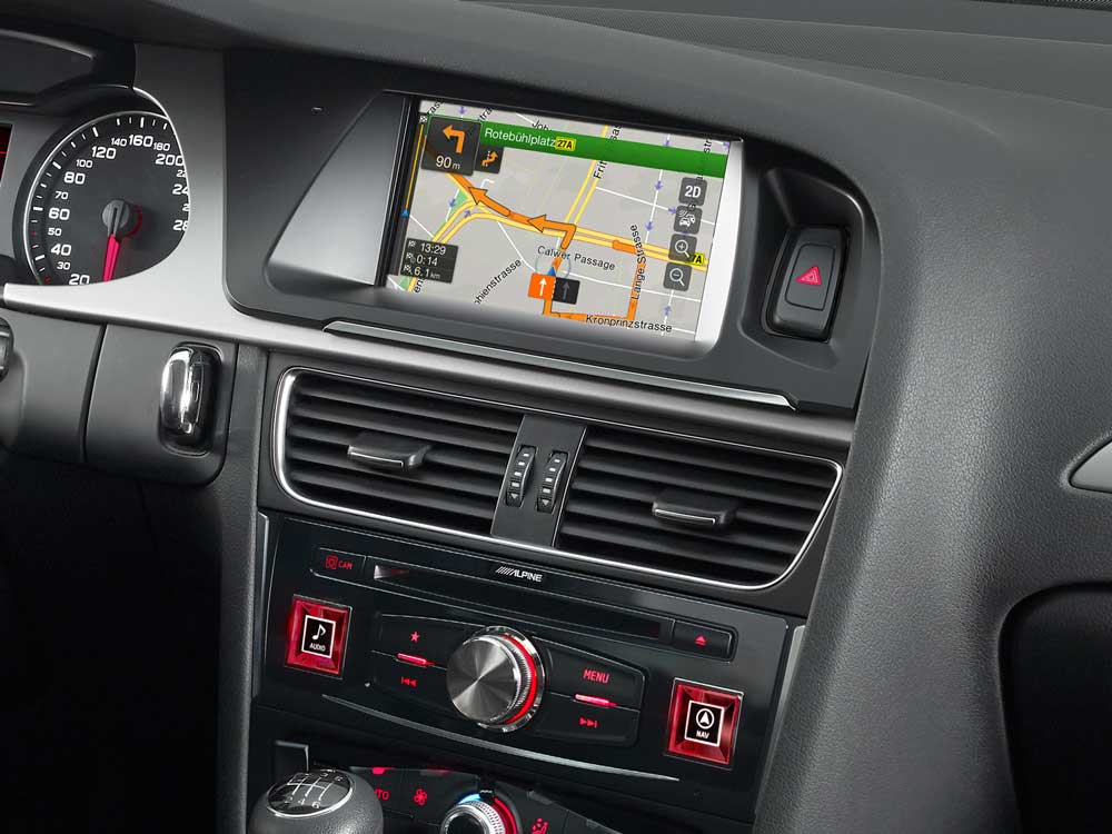 http://italy alpine europe com/fileadmin/images/MainNavigation/Products/Product pics/22 Alpine Style/Audi A4 A5/X701D A4/productpic X701D A4 installed 01