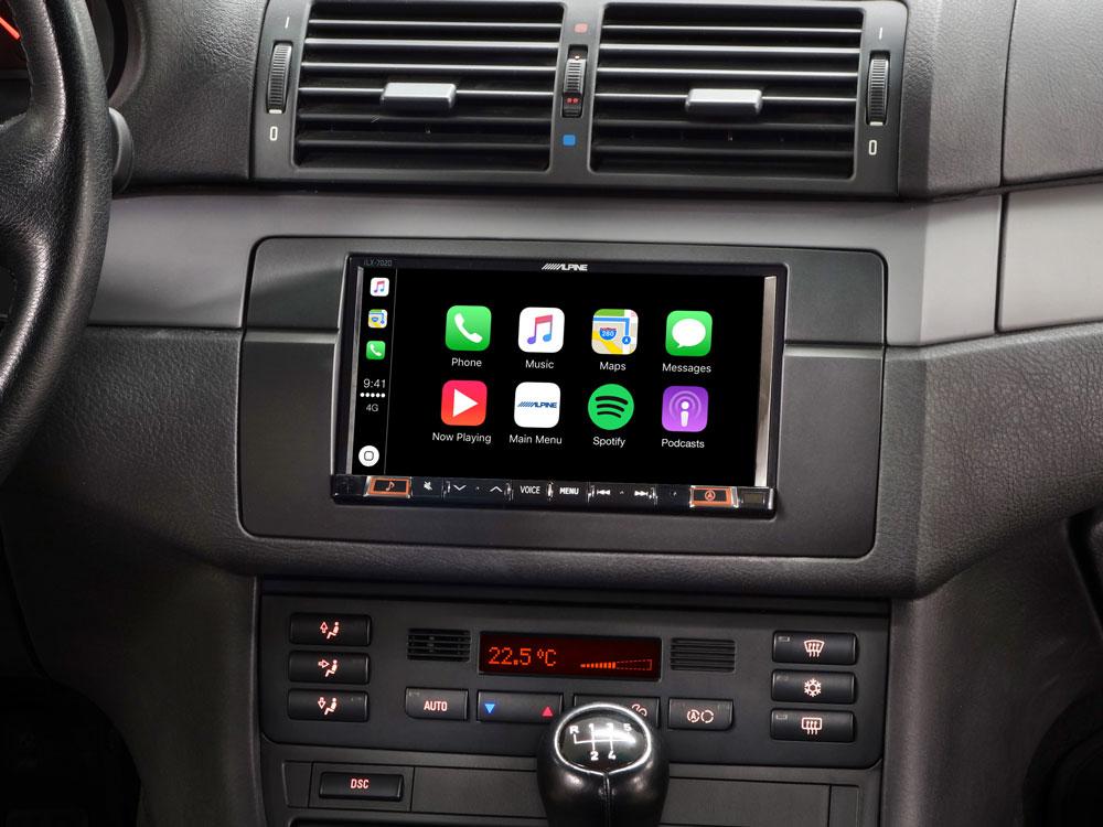 mobile media system da 7 per bmw 3 serie e46 con apple carplay android auto alpine ilx. Black Bedroom Furniture Sets. Home Design Ideas