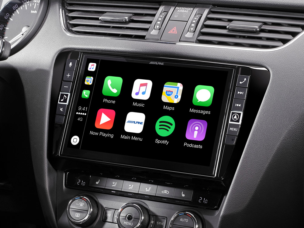 9 mobile media system for skoda octavia 3 featuring apple carplay and android auto. Black Bedroom Furniture Sets. Home Design Ideas