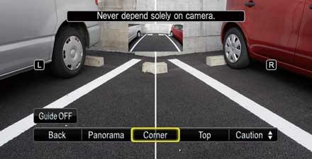 Videocamera per retromarcia Multi-View HCE-C252RD per Audi A4 - La telecamera multi-view posteriore fornisce una visione chiara sia del lato sinistro che del lato destro del veicolo