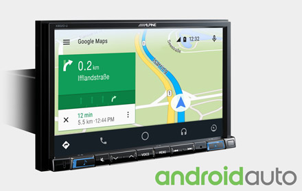 Online Navigation with Android Auto - X802DC-U
