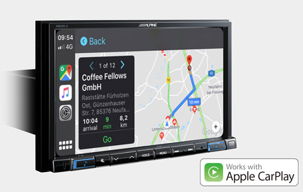 Online Navigation with Apple CarPlay - X803D-U