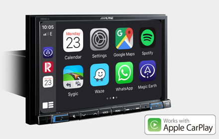 Works with Apple CarPlay - X803D-U