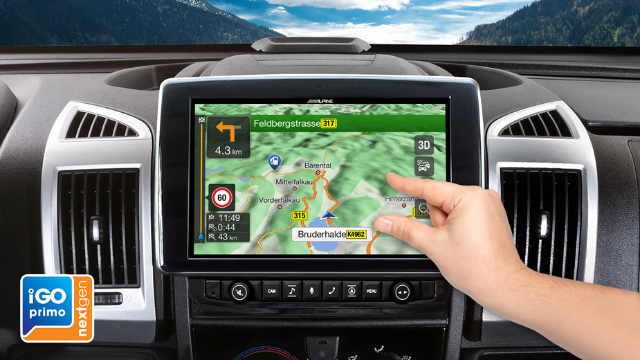 Alpine Style Navigation Designed for Ducato, Jumper and Boxer - X903D-DU