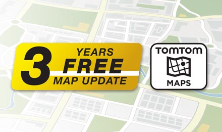 TomTom Maps with 3 Years Free-of-charge updates - X903D-DU