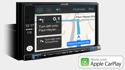 Online Navigation with Apple CarPlay - INE-W710-500MCA