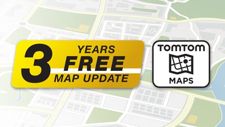 TomTom Maps with 3 Years Free-of-charge updates - INE-W710-500X