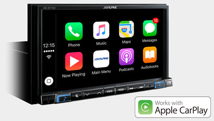 Works with Apple CarPlay - INE-W710-500X