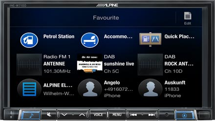 Favourites - Navigation System INE-W720-500MCA