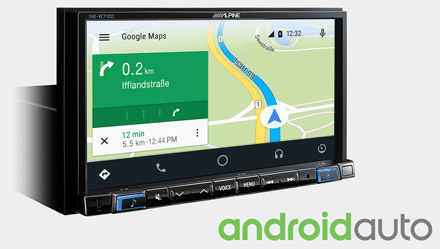 Online Navigation with Android Auto - INE-W720-500X