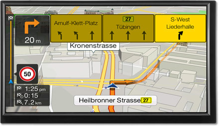 Lane TMC Route Guidance Map - Navigation System X701D-F