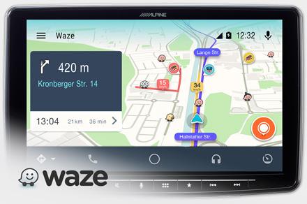 Alpine iLX-F903-i30 - Waze