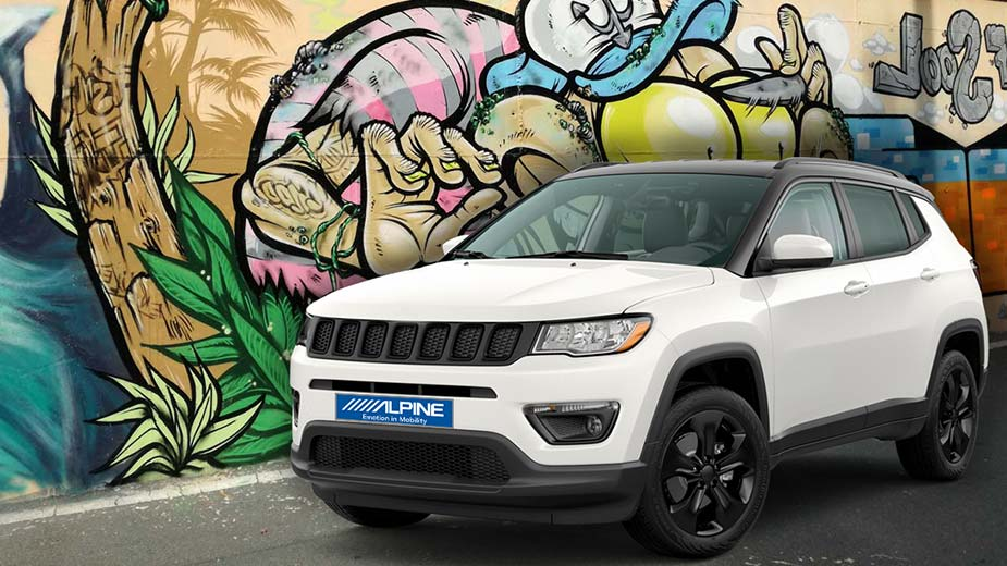 Alpine Style Mobile Media Designed for Jeep Compass - INE-W720JC