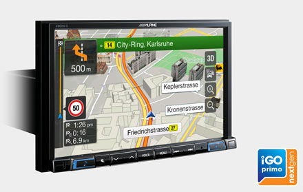 Built-in iGo Primo NextGen Navigation - X802D-RN