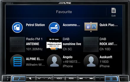 Favourites - Navigation System X802D-RN