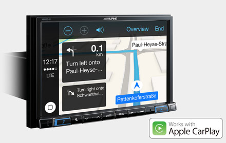 Online Navigation with Apple CarPlay - X802D-RN