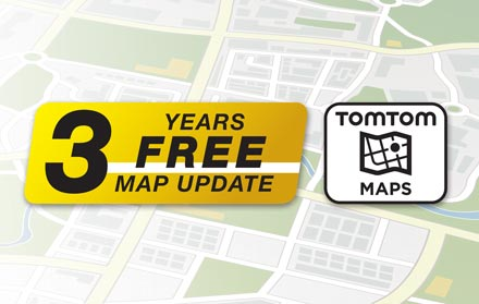 TomTom Maps with 3 Years Free-of-charge updates - X803D-RN