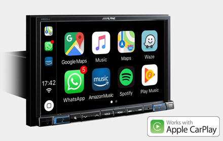 Works with Apple CarPlay - X803D-RN