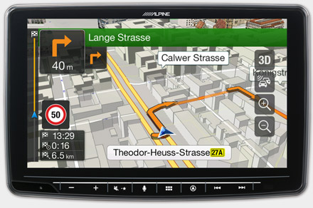 Built-in Navigation with TomTom Maps - INE-F904-208