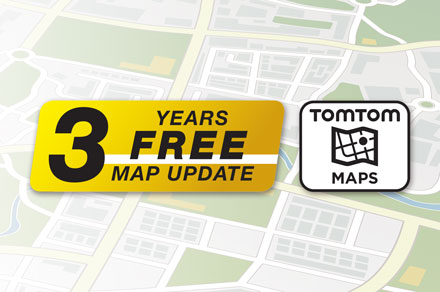3 Years Free-Of-Charge Map Updates - INE-F904-208