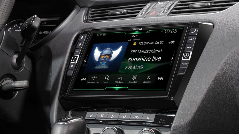 Alpine Style Mobile Media designed for Skoda Octavia 3 - i902D-OC3