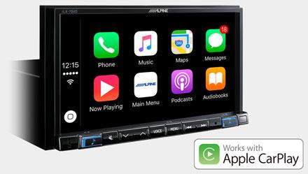 Works with Apple CarPlay - iLX-702SM-B