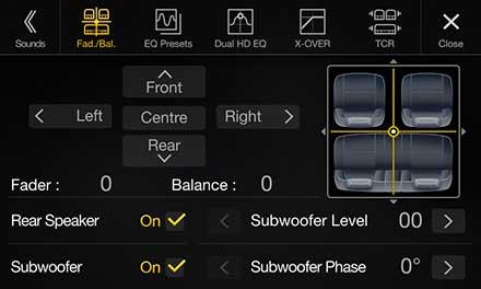 Golf 7 - Fader and Balance  - X901D-G7
