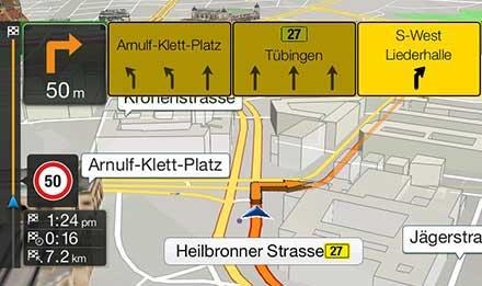 Golf 7 - Navigation - Lane Guidance / TMC Route Guidance  - X901D-G7